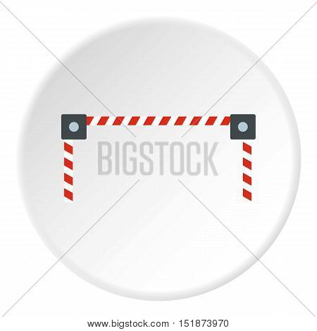 Car barrier icon. Flat illustration of car barrier vector icon for web