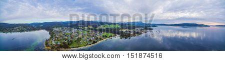 Aerial Panorama Of North West Bay And Snug, Tasmania