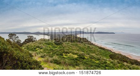 View Of The Neck From Lookout. Bruny Island, Tasmania.