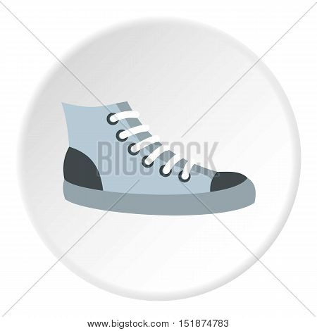 Sneakers icon. Flat illustration of sneakers vector icon for web