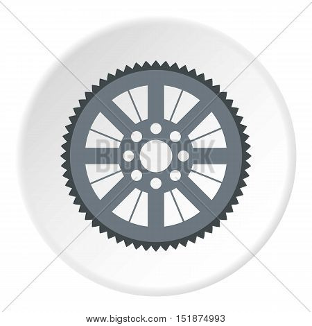 Sprocket for bicycle icon. Flat illustration of sprocket for bicycle vector icon for web