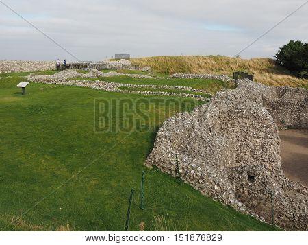 Old Sarum Castle Ruins In Salisbury