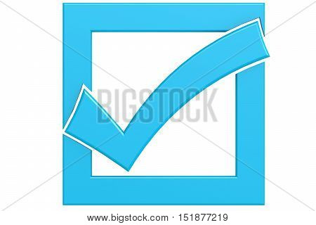 Boxed Blue Tick