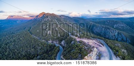 Moutanous Landscape In Tasmania