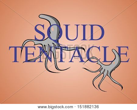squid tentacle logo illustration can use for template