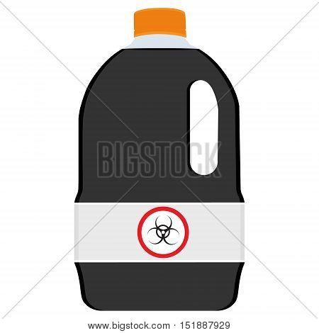 Bottle With Biohazard Symbol