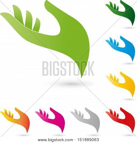 Hand, colored, helper hand, helper or naturopathic logo