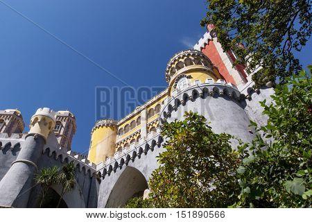 Pena National Palace (Palacio Nacional da Pena) - Romanticist palace in Sintra, Portugal