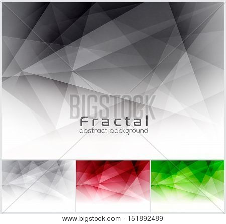 Fractal abstract background. Low poly vector background series suitable for design element and web background