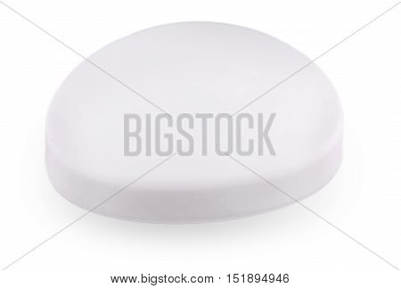 Bar of white Soap isolated on white background