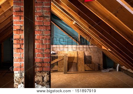 home attic renovation and thermal Insulation with rock wool