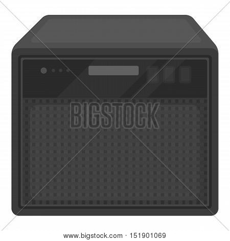Guitar amplifier icon in cartoon style isolated on white background. Musical instruments symbol vector illustration