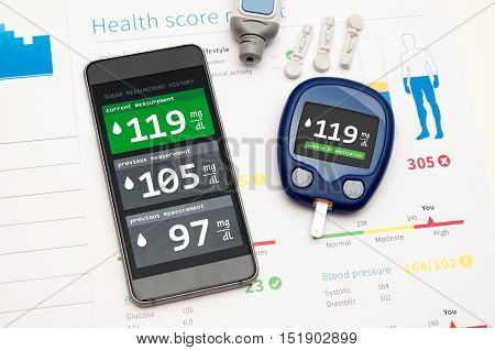 Application For Diabetes On Smartphone