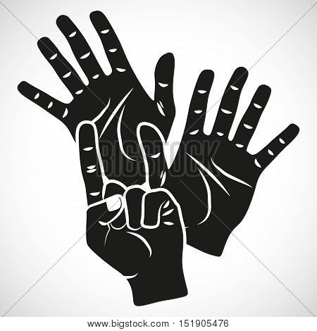 Icon Set Hand Eleven