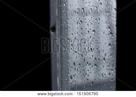 Drops Of Rain Water During The Rainy Season.