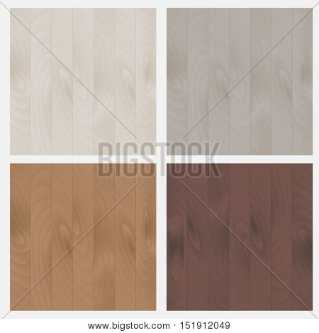 The set of patterns wood texture. Floor boards, wallpaper, background