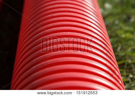 New plastic pvc pipe for a pipeline