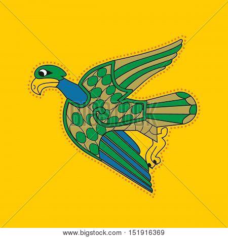 Ornamental Celtic Eagle Bird