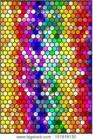 Colorful geometric background. Vector abstract wallpaper .