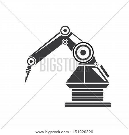 Clean technology background design template. vector robotic arm symbol. robot hand.