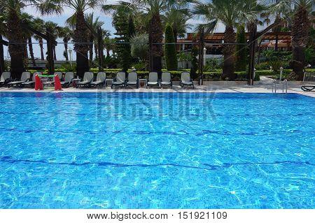 Swimming pool at beach resport in Kemer Antalya