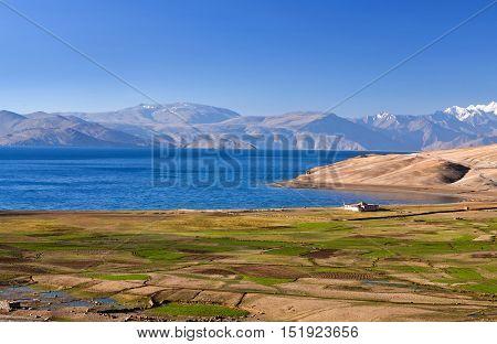 Tso Moriri Lake In Ladakh, North India