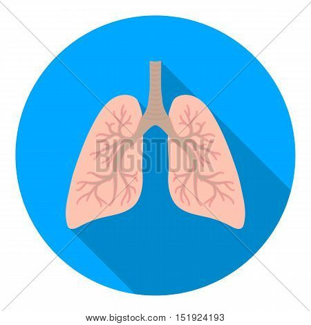 Lungs icon in flat style isolated on white background. Organs symbol vector illustration.
