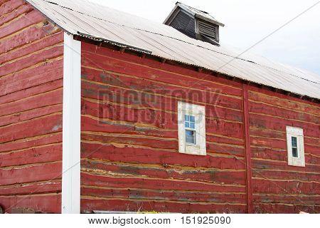 A red barn near Cripple Creek Colorado