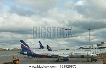 Aeroflot Company At The Airport Sheremetyevo, Moscow, Russia.