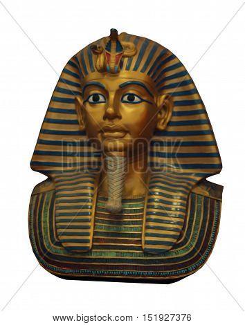 King Tutankhamun isolated on the white background