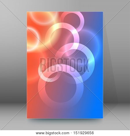 Background Report Brochure Cover Pages A4 Style Abstract Glow33