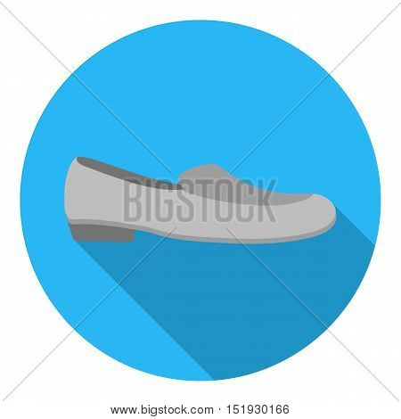 Loafers icon in flat style isolated on white background. Shoes symbol vector illustration.