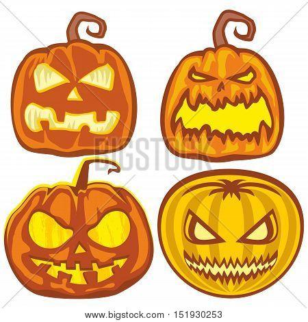 halloween holiday pumpkin, poster, banner, moon, devil, satan,