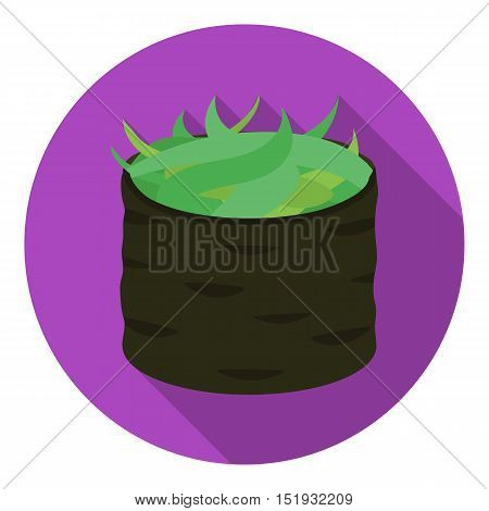 Gunkan maki icon in flat style isolated on white background. Sushi symbol vector illustration.