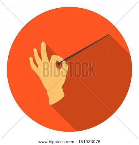 Conductor orchestra icon in flat style isolated on white background. Theater symbol vector illustration