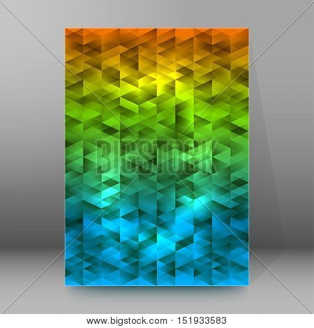 Background Report Brochure Cover Pages A4 Style Abstract Glow47