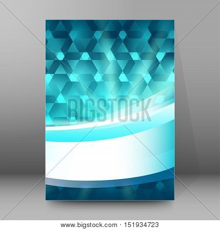 Background Report Brochure Cover Pages A4 Style Abstract Glow53