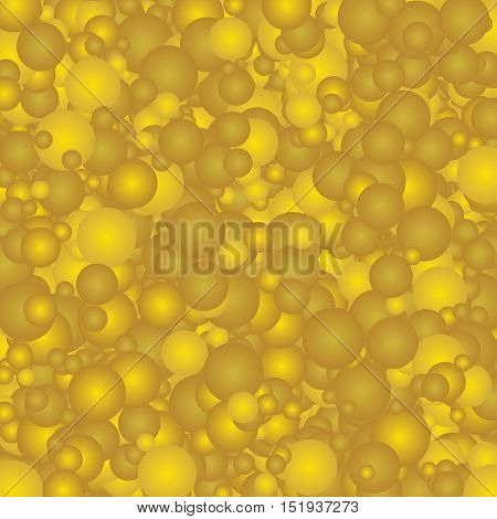 Ornamental pattern with large yellowish bubbles. Background textures.