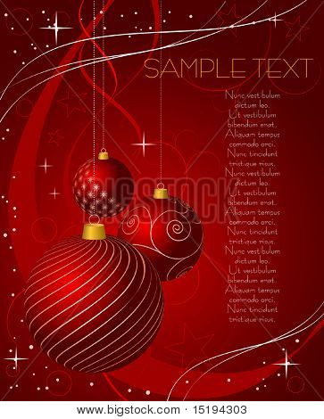 Christmas abstract background - vector illustration