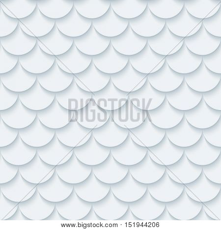 Light gray fish scale seamless background. Neutral tileable pattern of fish scale. Vector EPS10.