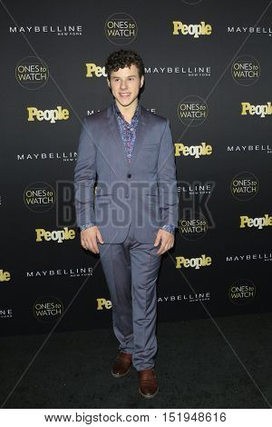 LOS ANGELES - OCT 13:  Nolan Gould at the People's One to Watch Party at the E.P. & L.P on October 13, 2016 in Los Angeles, CA