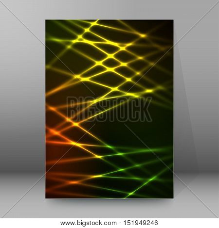 Background Report Brochure Cover Pages A4 Style Abstract Glow67