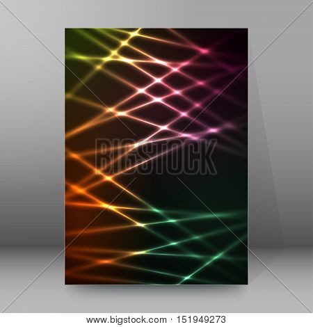 Background Report Brochure Cover Pages A4 Style Abstract Glow68