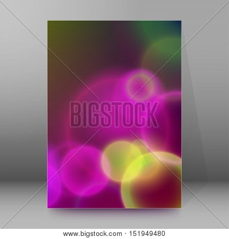 Background Report Brochure Cover Pages A4 Style Abstract Glow74