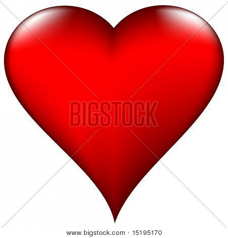 Valentine's day heart - vector illustration - jpeg version in my portfolio