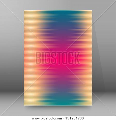 Background Report Brochure Cover Pages A4 Style Abstract Glow77