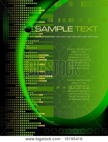 green tech abstract background - vector illustration - jpeg version in my portfolio
