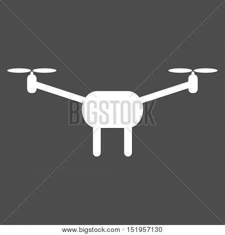 Minimalistic quadcopter icon. Isolated vector illustration on white background. Simple design. poster