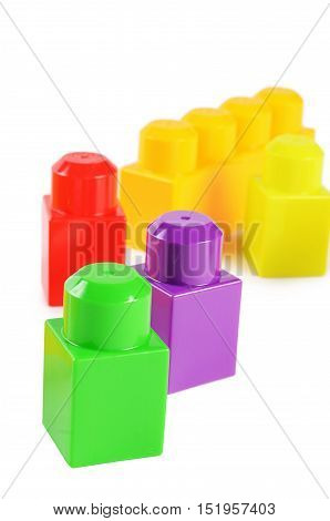 Children's colorful plastic designer isolated on white
