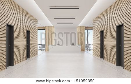 Corridor With Reception Desk
